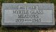 Profile photo:  Myrtle <I>Glass</I> Meadows