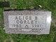 Alice B <I>Barrett</I> Corley