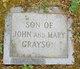 """Profile photo:  """"Son"""" #1 Grayson"""