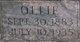 "Profile photo:  Lou Olive ""Ollie"" <I>Mills</I> Moore"