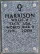 Profile photo:  Willie Wilson Harrison