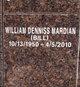 """William Denniss """"Bill"""" Mardian"""