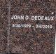 John D Dedeaux