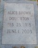 Profile photo:  Alice Brown Doughton