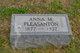 Profile photo:  Anna M. <I>McCall</I> Pleasanton