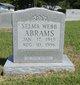 Profile photo:  Selma Cordelia <I>Phillips</I> Abrams