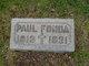 Profile photo:  Paul Fonda