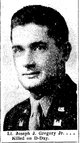 "1LT Joseph Jasper ""Joe"" Gregory, Jr"
