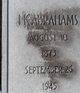 Isadore Kalish Abrahams