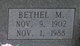 Bethel M Cantrell