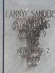Fannye <I>Sanders</I> Abrahams