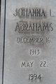 Johanna L Abrahams