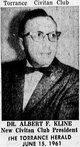 Profile photo: Dr Albert Frederick Kline, III