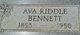 Ava Myrtle <I>Riddle</I> Bennett