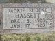 Profile photo:  Jackie Eugene Hassett