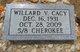 Willard Vernon Cacy