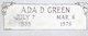 "Profile photo:  Ada Dona ""Snick"" <I>Price</I> Green"