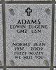Profile photo:  Norma Jean Adams
