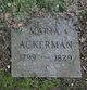 Maria Ackerman