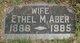 Profile photo:  Ethel Mae <I>Bilyeu</I> Aber