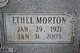 Ethel <I>Morton</I> Eggleston