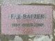 "Frederick James ""Fritz"" Balzer"