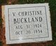 Profile photo:  Virginia Christine <I>Buckland</I>