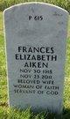 Profile photo:  Frances Elizabeth Aiken
