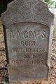 Profile photo:  A. A. Coats