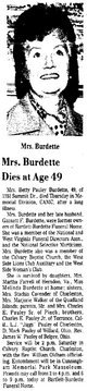 Betty Emogene <I>Pauley</I> Burdette