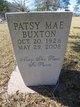 Patsy Mae <I>Hemphill</I> Buxton