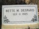 Profile photo:  Bette Marie <I>Russell</I> Despard