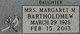 Profile photo: Mrs Margaret Marie <I>Willson</I> Bartholomew