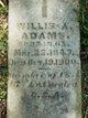 Profile photo:  Willis A. Adams