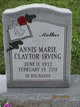 Profile photo:  Annis Marie <I>Claytor</I> Irving