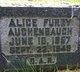 Profile photo:  Alice <I>Furry</I> Aughenbaugh