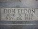 Profile photo:  Don Eldon Hunsaker