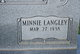 "Minnie Ruth ""Ruth"" <I>Langley</I> Callicutt"
