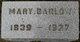 Mary <I>Barlow</I> Turner