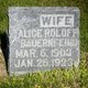 Profile photo:  Alice <I>Roloff</I> Bauernfeind