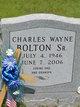 Profile photo:  Charles W. Bolton