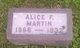 Profile photo:  Alice <I>Farley</I> Martin