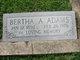 Profile photo:  Bertha A Adams