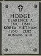 Profile photo:  Clarence A. Hodge
