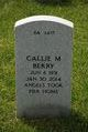 Profile photo:  Callie Mae Berry
