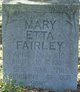 Mary Etta Peacock