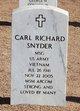 Profile photo:  Carl Richard Snyder