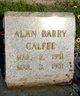 Profile photo:  Alan Barry Calfee