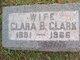 Profile photo:  Clara Bell <I>Ensor</I> Clark
