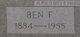 "Profile photo:  Benjamin Franklin ""Ben"" Gullett"